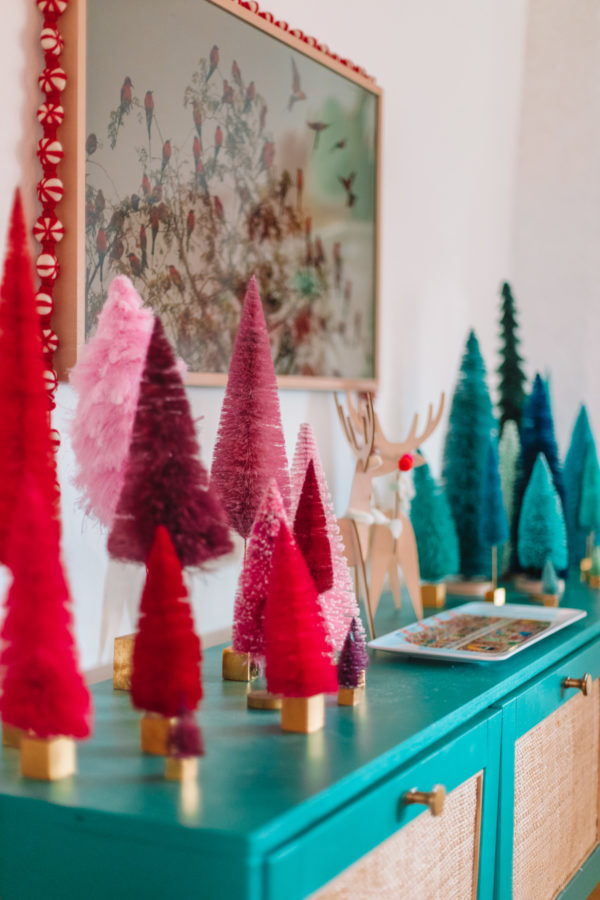 Colorful Living Room at Christmas
