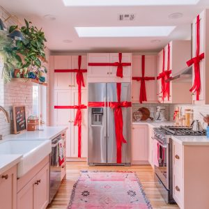 How To Turn Your Kitchen Cabinets Into Christmas Presents