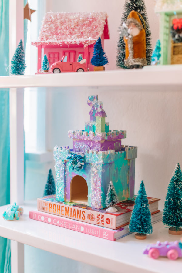 DIY Christmas Village Castle