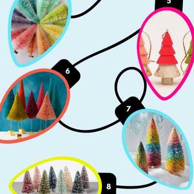 Where to Buy Bottle Brush Trees + Decorative Christmas Trees