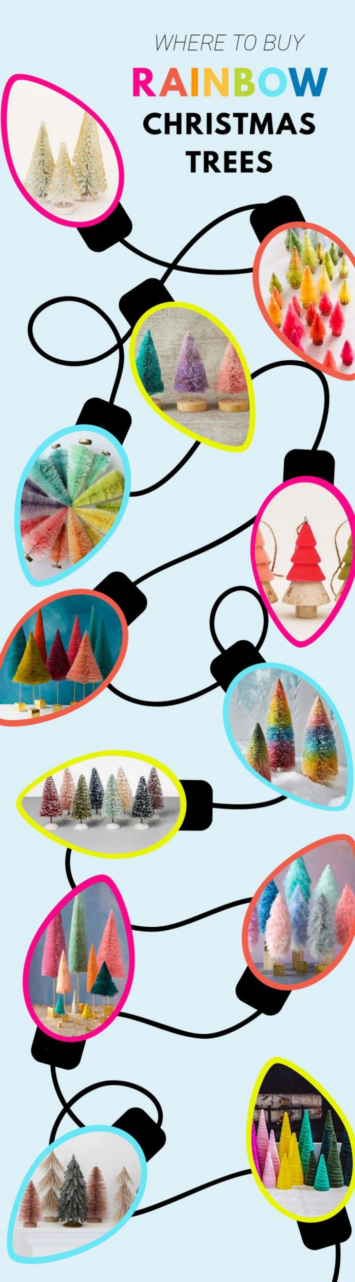 Where To Buy Colorful Bottle Brush Trees and Decorative Christmas Trees