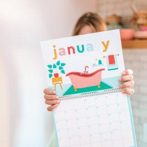 Free Printable 2020 Wall Calendar!