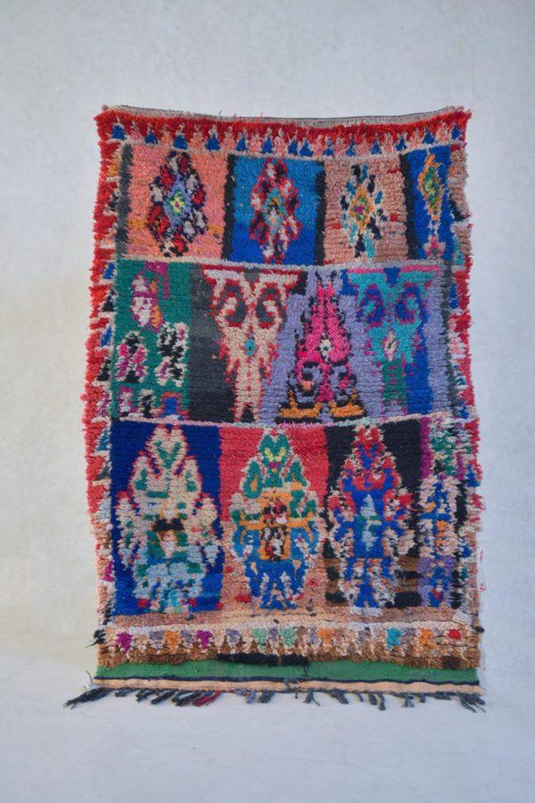 blue and pink vintage moroccan rug