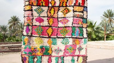 multicolor vintage boucherouite rug