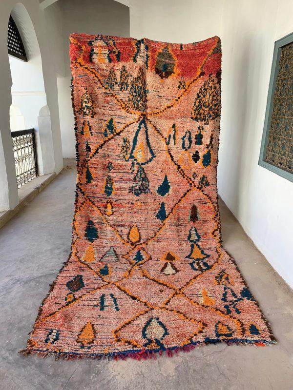 warm tone vintage moroccan rug