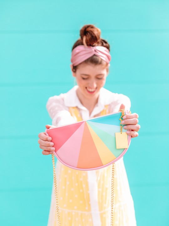 Can't Clutch This: Color Wheel Clutch