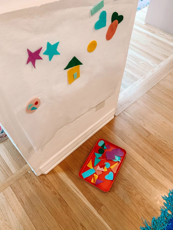 how to make a shape felt board for toddlers