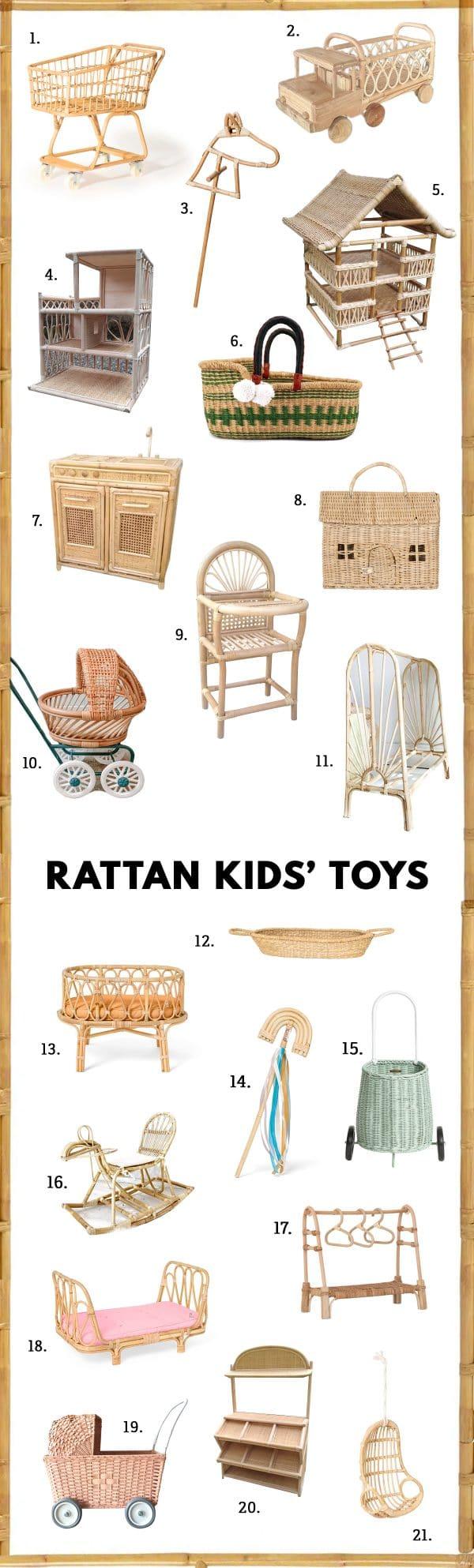 Rattan Kids Toys