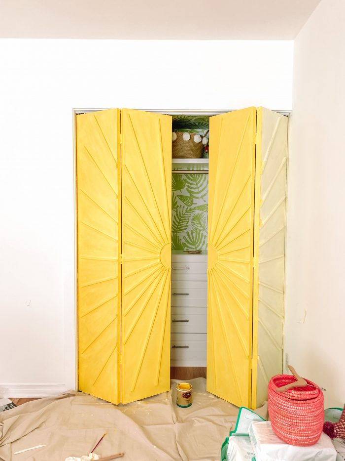 How To Make Sunburst Closet Doors