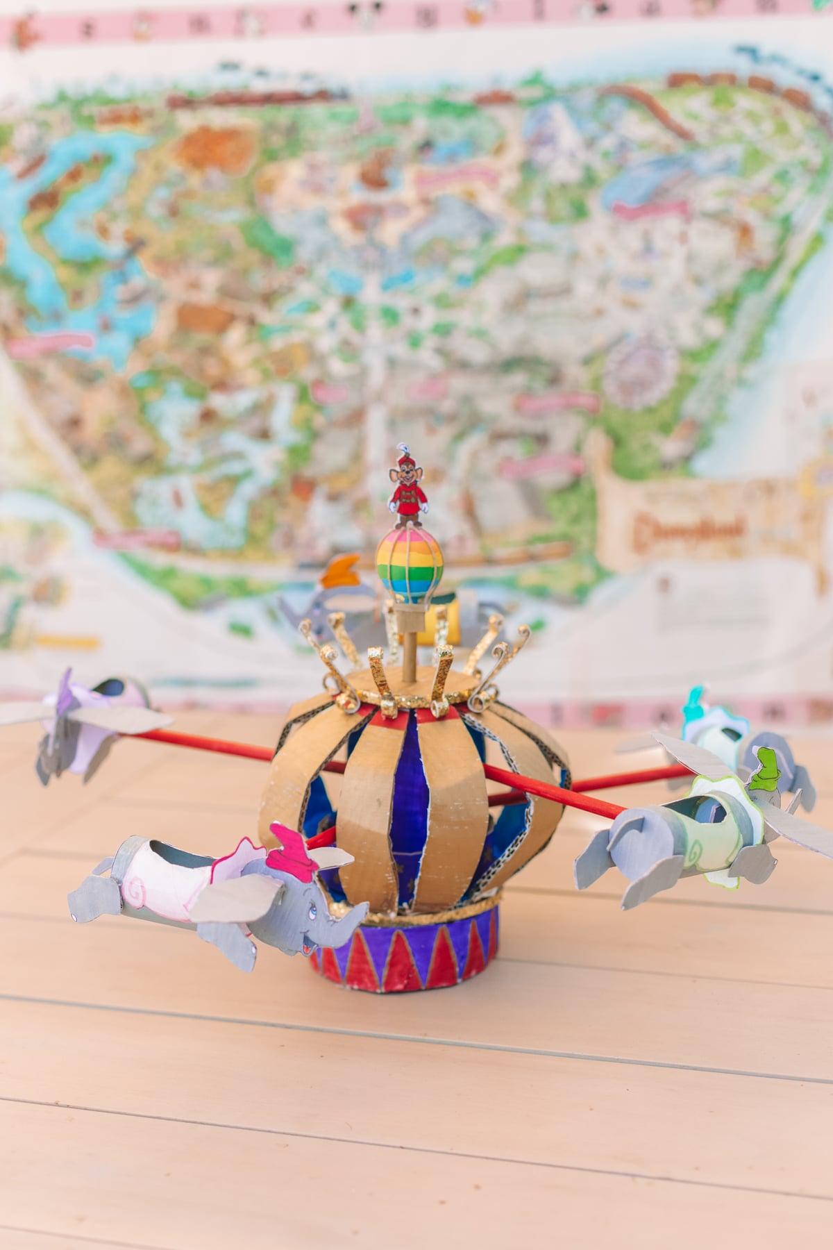 How To Make a Disneyland Cardboard Dumbo Ride