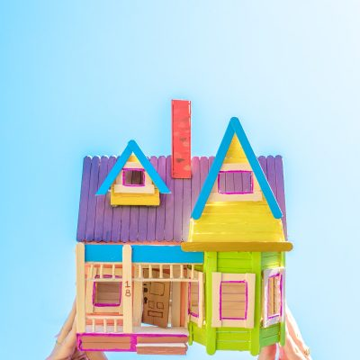 "How To Make A Popsicle Stick ""Up"" House"