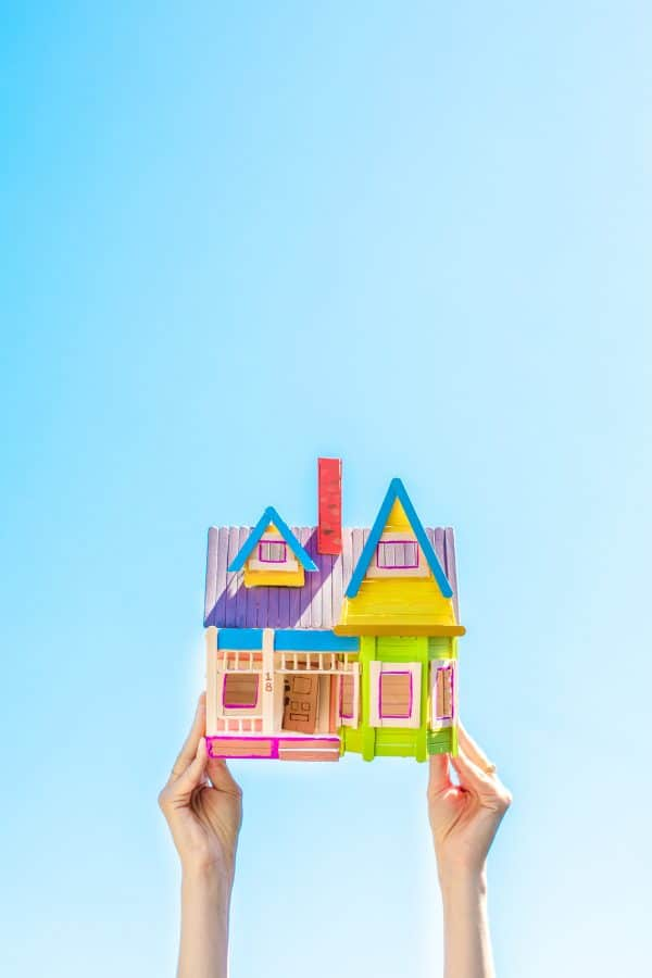 How To Make A Popsicle Stick Disney Up House