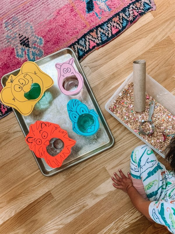 Feed The Animals Sensory Bin