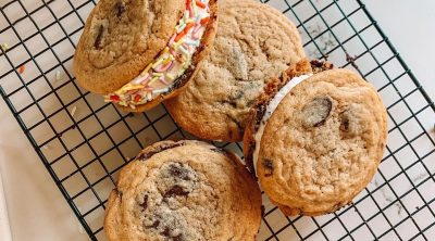 Homemade Chocolate Chip Cookie Ice Cream Sandwiches