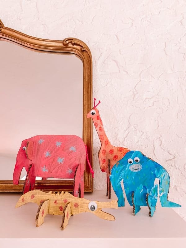 Mary Blair Inspired Cardboard Animals