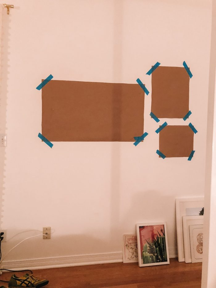 How To Hang A Gallery Wall with Kraft Paper