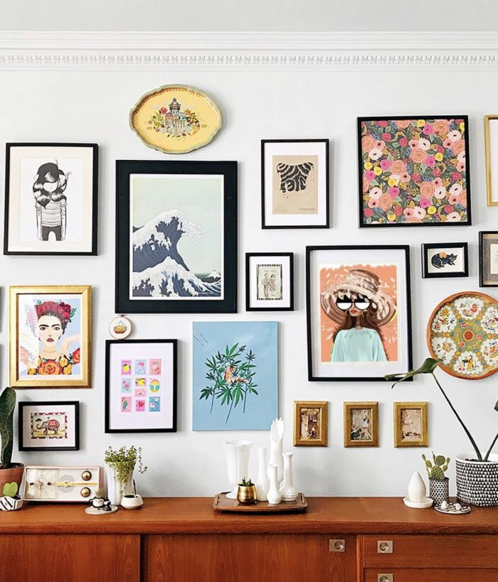 How To Mix Art Styles in a Gallery Wall