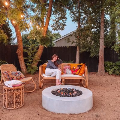 Rattan Outdoor Furniture and Fire Pit