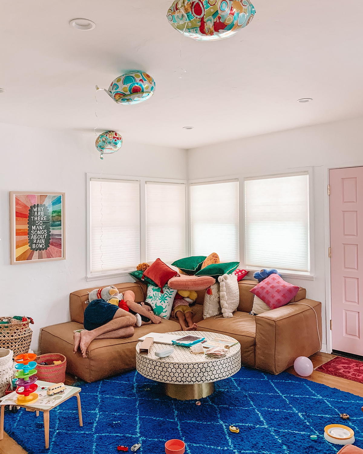 Colorful Kid Friendly Living Room