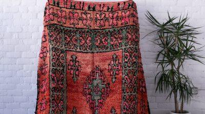 Pink and Teal Vintage Moroccan Rug