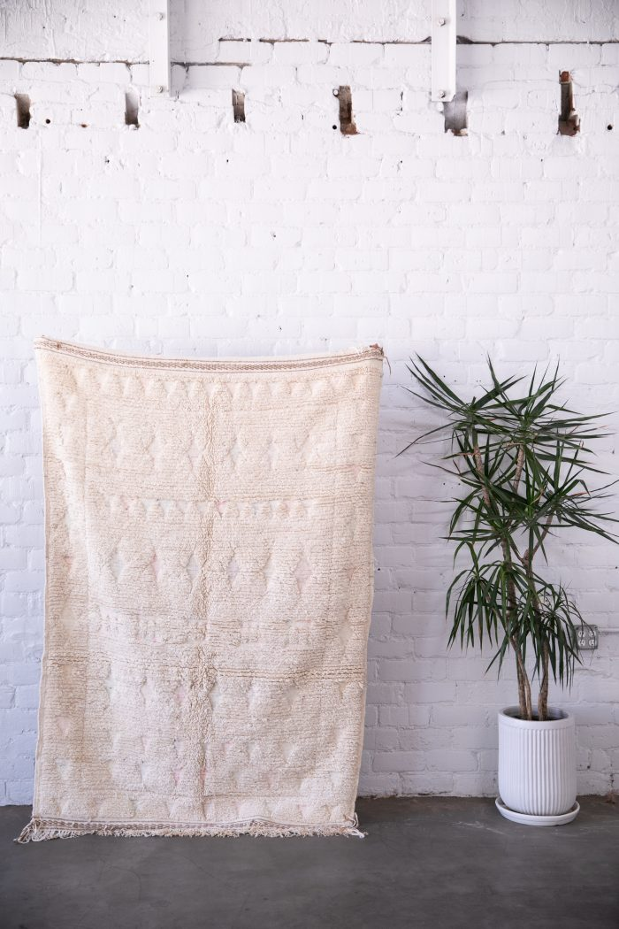 White Vintage Moroccan Rug