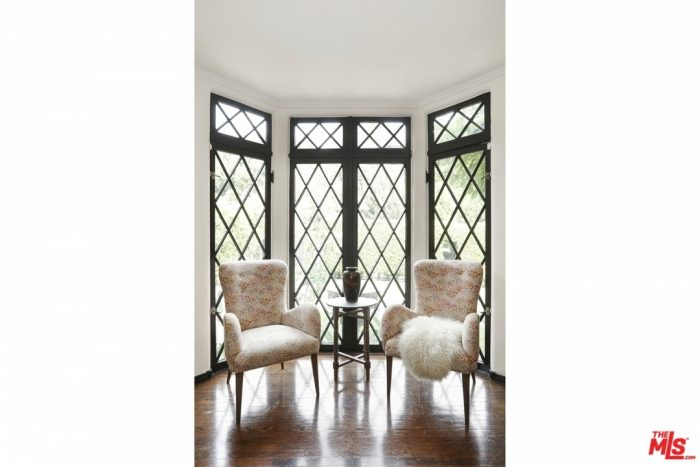 Diamond Pane Windows in a Tudor Home in Los Angeles