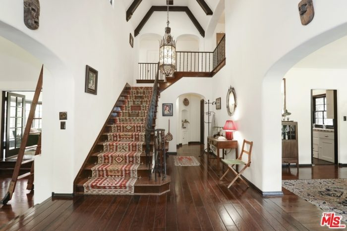 Entryway in a Tudor Home in Los Angeles