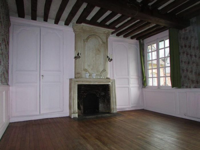 Half Timbered Fireplace in Home in Pont Audemer France