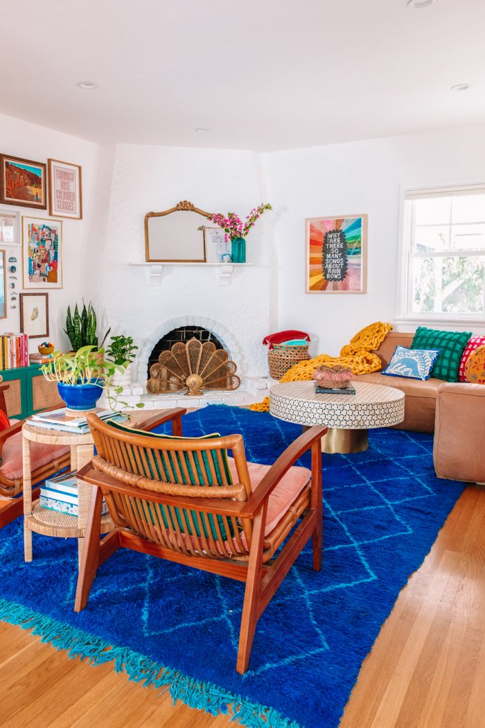 Colorful Living Room Ideas and Before + After