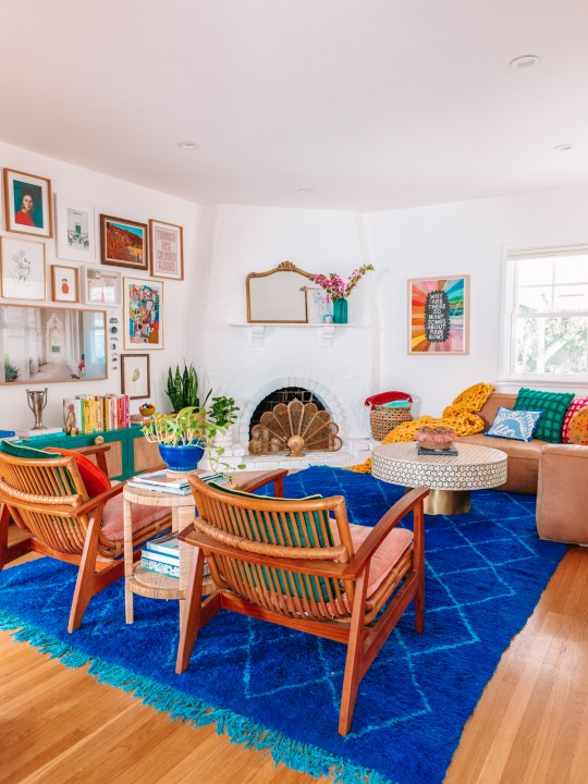 Our Colorful Living Room Makeover Reveal