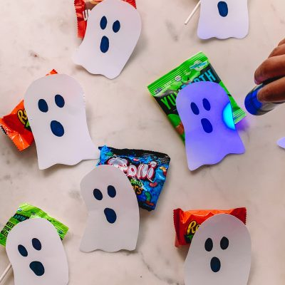 Black Light Halloween Candy Hunt