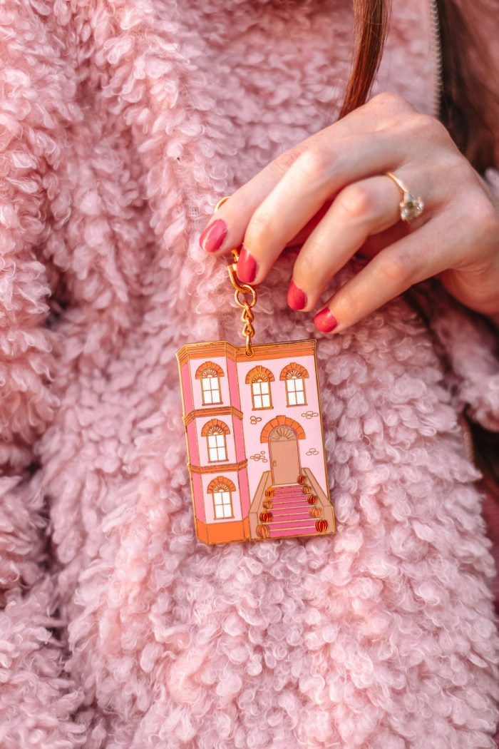 Reversible Brownstone Keychain Clutch
