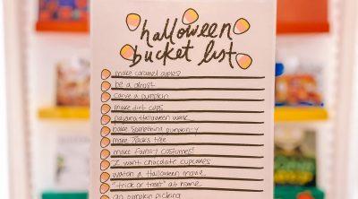 Halloween Bucket List (Free Printable!)