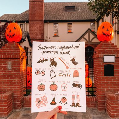 Neighborhood Halloween Scavenger Hunt (Free Printable!)