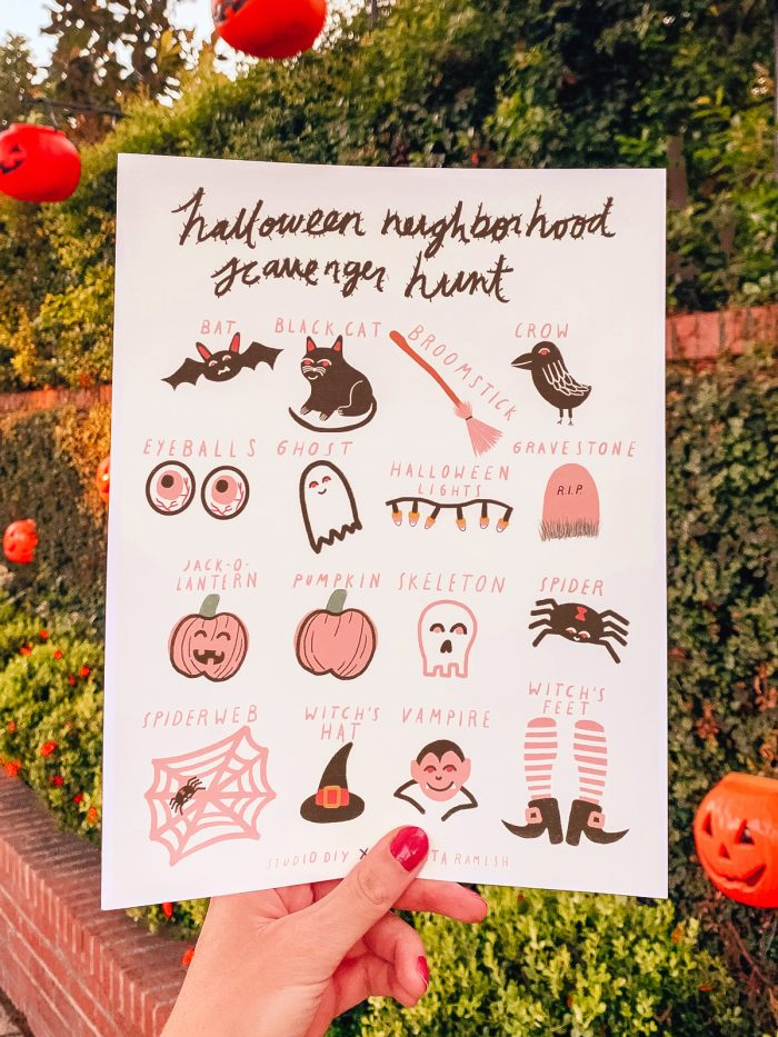 Neighborhood Halloween Scavenger Hunt FREE Printable