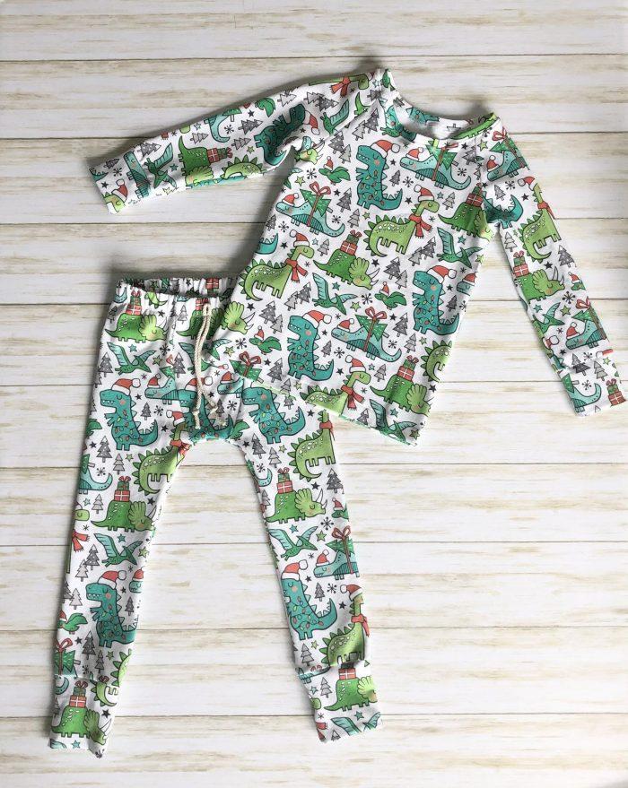 Christmas Dinsoaur Pajamas