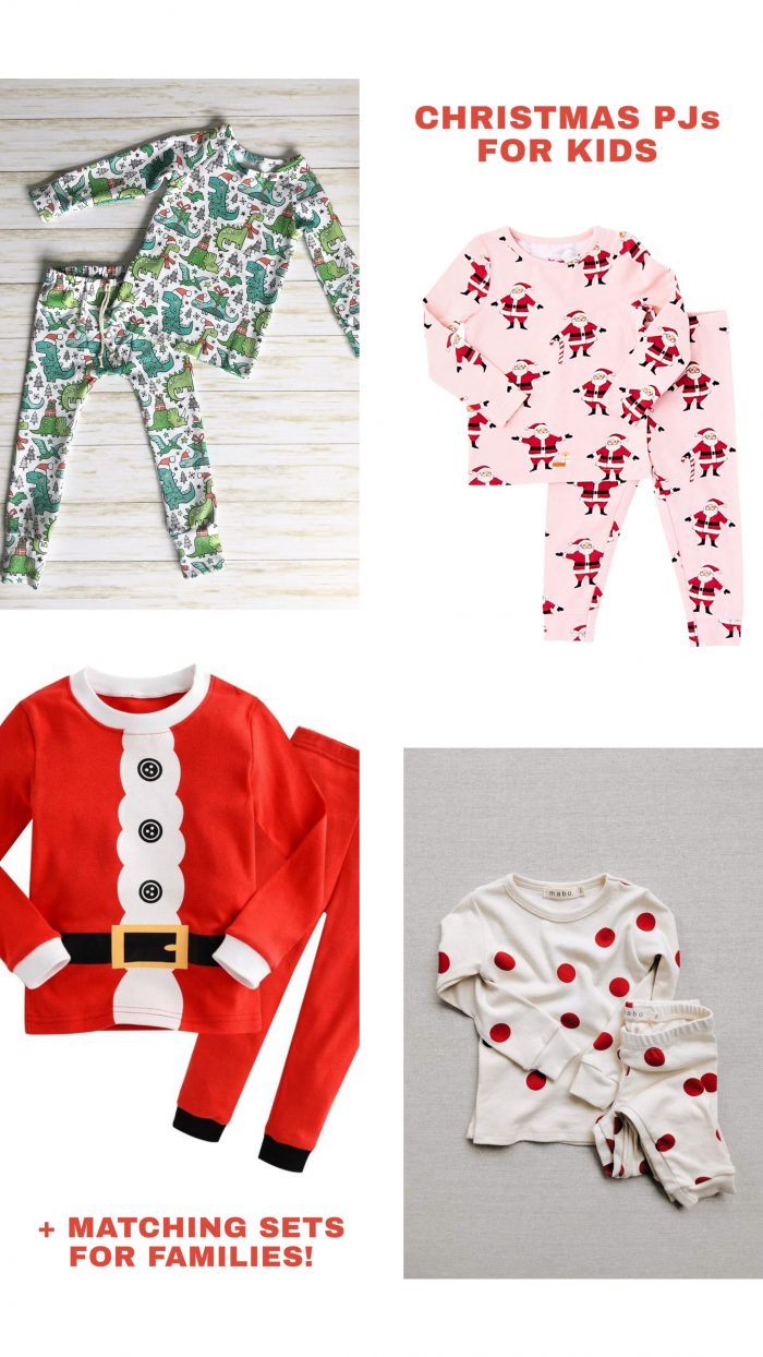 Christmas Pajamas for Kids and Matching Pajamas for Families