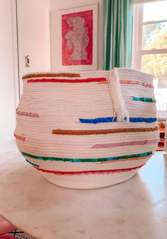 Colorful Rope Basket