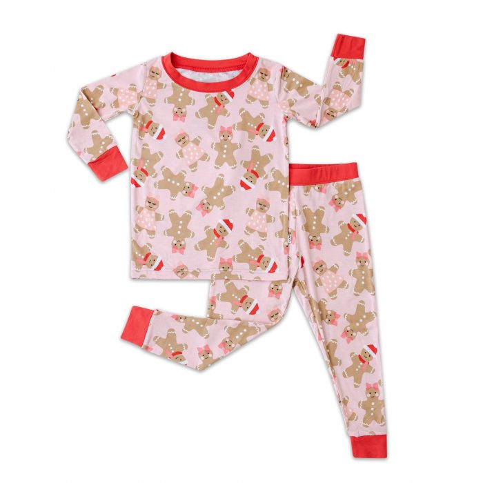 Pink Gingerbread Christmas Pajamas