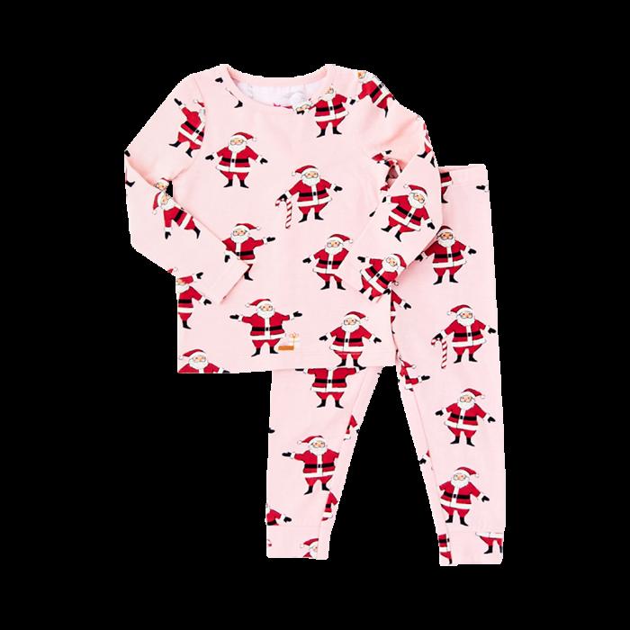 Pink Santa Christmas Pajamas
