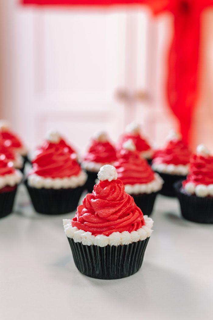 How To Make Santa Hat Cupcakes