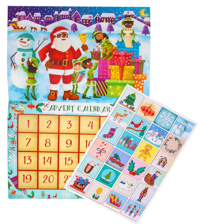Santa Sticker Advent Calendar