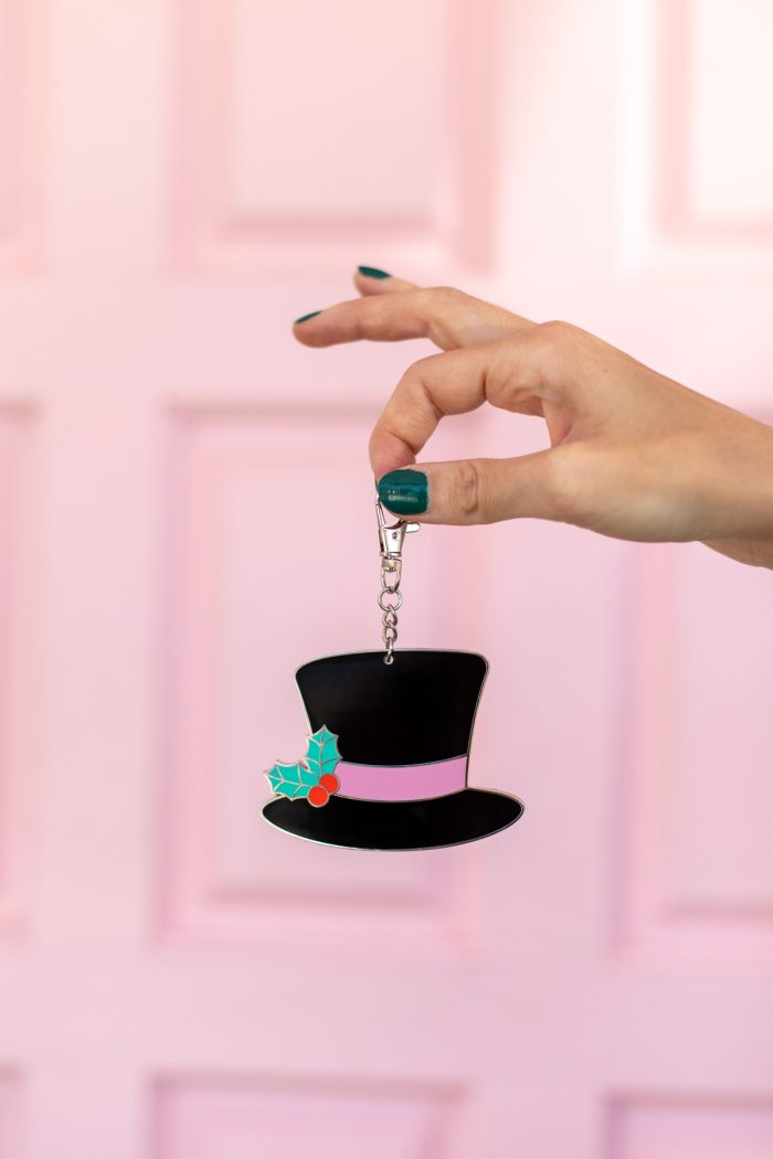 Snowman Top Hat Keychain