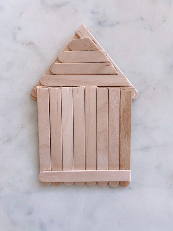 DIY Popsicle Stick Gingerbread House Ornaments