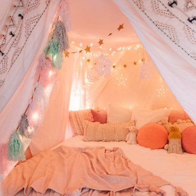 How To Make A Magical Holiday Tent at Home