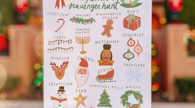 Neighborhood Holiday Scavenger Hunt (Free Printable!)