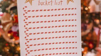 Free Printable Holiday Bucket List
