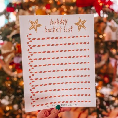 Holiday Bucket List (Free Printable!)