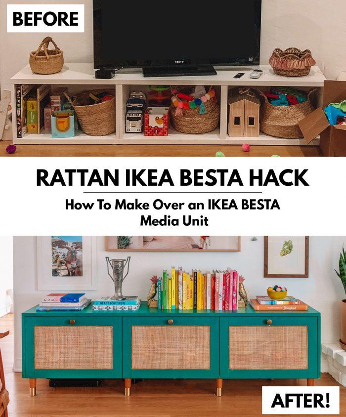 Rattan IKEA Besta Hack Tutorial