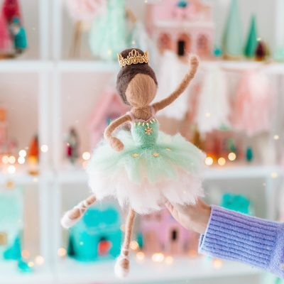 Needle Felted Doll Tutorial: DIY Sugar Plum Fairy Tree Topper